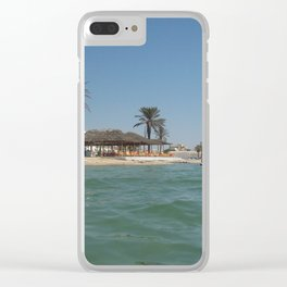 Travel to Tunisia by the sea Clear iPhone Case
