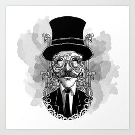 Steampunk Man Art Print