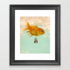 balloon fish 03 Framed Art Print