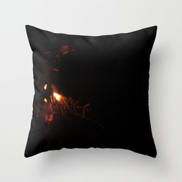 Late Night Fire Feels Throw Pillow