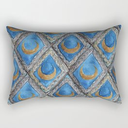 Moon Tiles Rectangular Pillow