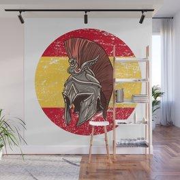 Spain Spanish Spartan  TShirt Warrior Shirt Flag Gift Idea Wall Mural