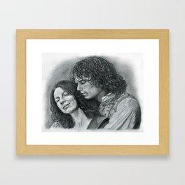 Outlander, embrace Framed Art Print