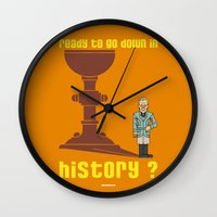 indiana jones Wall Clocks featuring INDIANA JONES AND THE LAST CRUSADE : Wise Walter by SimonCARUSO.com