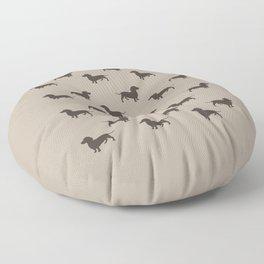 Dachshund Pattern - Tan Floor Pillow