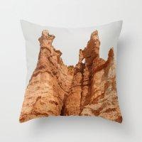 Hoodoos, Bryce National Park Throw Pillow