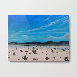 Coahuila Desert Painting Metal Print