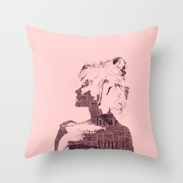 HEAR OUR VOICE Throw Pillow