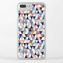Abstract mosaic triangle colors Clear iPhone Case