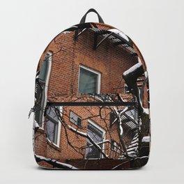 Snowy Street of SoHo, NYC 1 Backpack