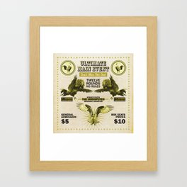 THE ROOSTERS & THE EAGLE Framed Art Print