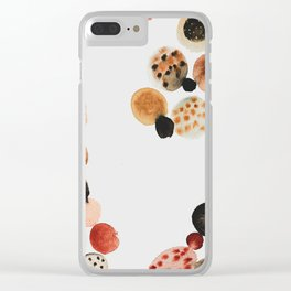 Abstract Samples 1 Clear iPhone Case