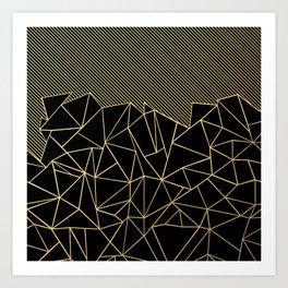 Ab Lines 45 Gold Art Print