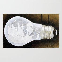 """""""Ship in a Lightbulb"""" Rug"""