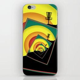 Spinning Disc Golf Baskets 3 iPhone Skin