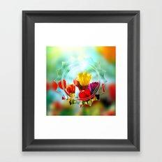 Tulips in the sunshine Framed Art Print
