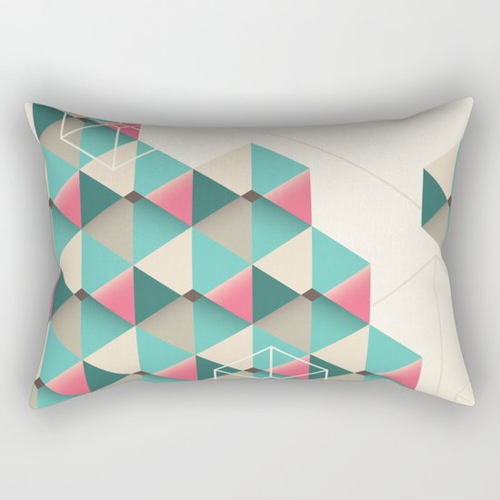 Empty cubes Rectangular Pillow