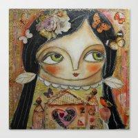 home sweet home Canvas Prints featuring Home by Dulcamara