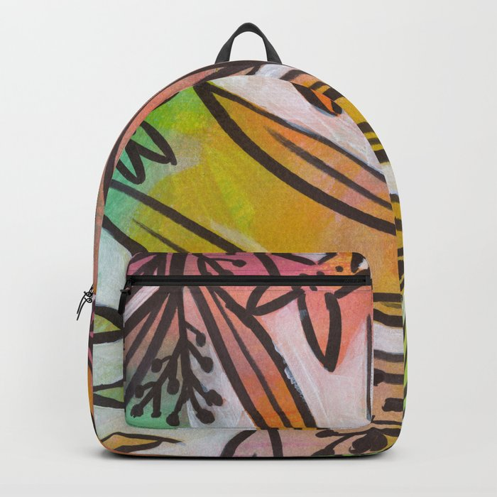 Bright Colorful Jungle Canopy Backpack by 2birdstone