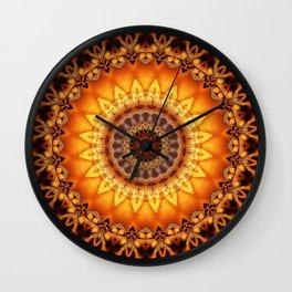 Mandala egypt sun Wall Clock