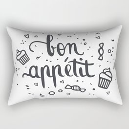 Bon appétit - calligrapy Rectangular Pillow