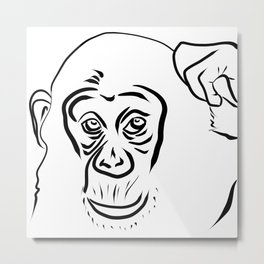 Year of the Monkey 2016 : Chinese Zodiac Sign  Metal Print