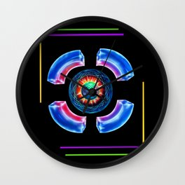 Abstract in Perfection - Magic of the colors Wall Clock