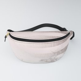 Rose Gold Pink Stripes and Marble Design Fanny Pack