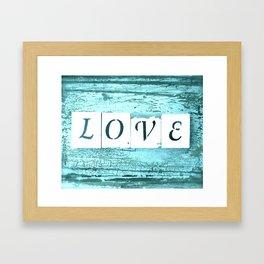 Shabby Love Framed Art Print