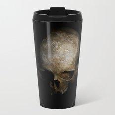 Male skull with bones Metal Travel Mug
