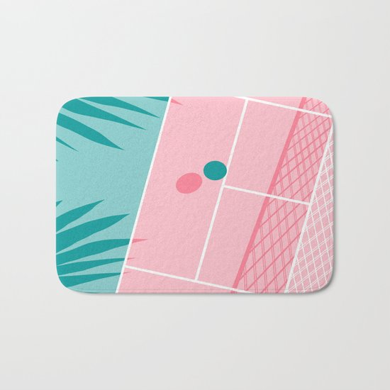 Jock - tennis sport retro neon throwback palm springs los angeles hollywood california sunny pop art Bath Mat
