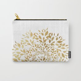 Gold Leaves Mandala Carry-All Pouch