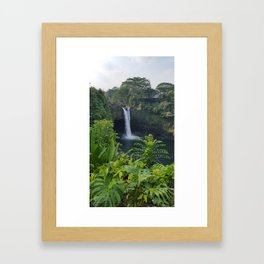 Rainbow Falls in Hawaii Framed Art Print