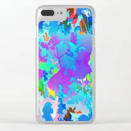 Bouquet In The Blender Color Slapped Clear iPhone Case