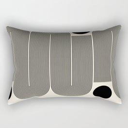 Abstraction_LINE_BLACK_DOT_VISUAL_ART_Minimlism_001A Rectangular Pillow