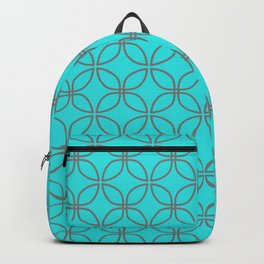 GUISE beautiful peacock blue with silver grey interlocking circles Backpack