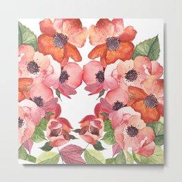 Flowers illustration Metal Print
