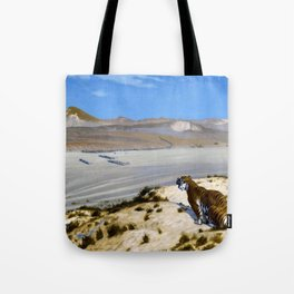 Tiger On The Watch - Digital Remastered Edition Tote Bag