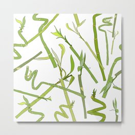Scattered Bamboos Metal Print