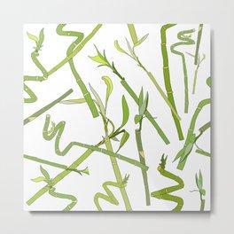 Scattered Bamboos Metal Print
