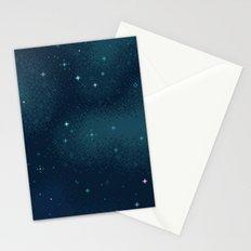 Pixel Marine Starlight Galaxy Stationery Cards