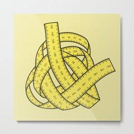 Yarn of measurements Metal Print