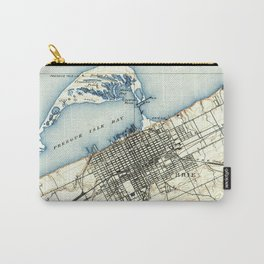 Vintage Map of Erie Pennsylvania (1899) Carry-All Pouch