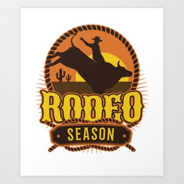 Rodeo Season Art Print
