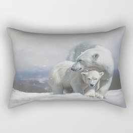 Polar Bear Family Rectangular Pillow