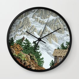 BEYOND MOUNT SHUKSAN AUTUMN COLOR VERSION Wall Clock