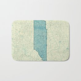 Tennessee State Map Blue Vintage Bath Mat