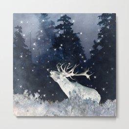 Silver Stars Wilderness (Elk) Metal Print