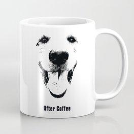 Happy Dog in Black and White Coffee Mug