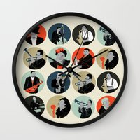 jazz Wall Clocks featuring Jazz  by Prelude Posters